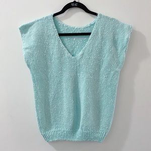2/25 🍉 perfect teal vintage sweater vest